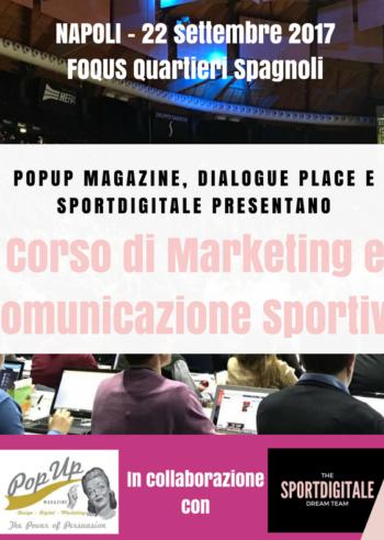corso in marketing e comunicazione sportiva