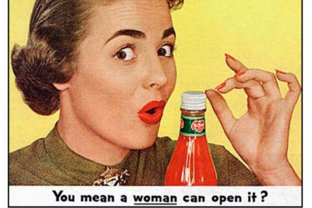 donna nella pubblicità