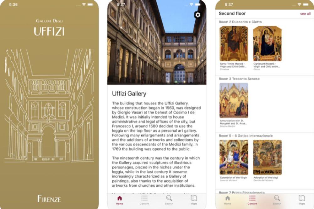 app uffizi