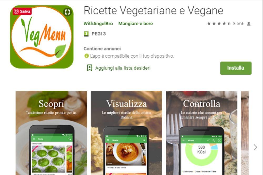 ricette vegane e vegetariane app