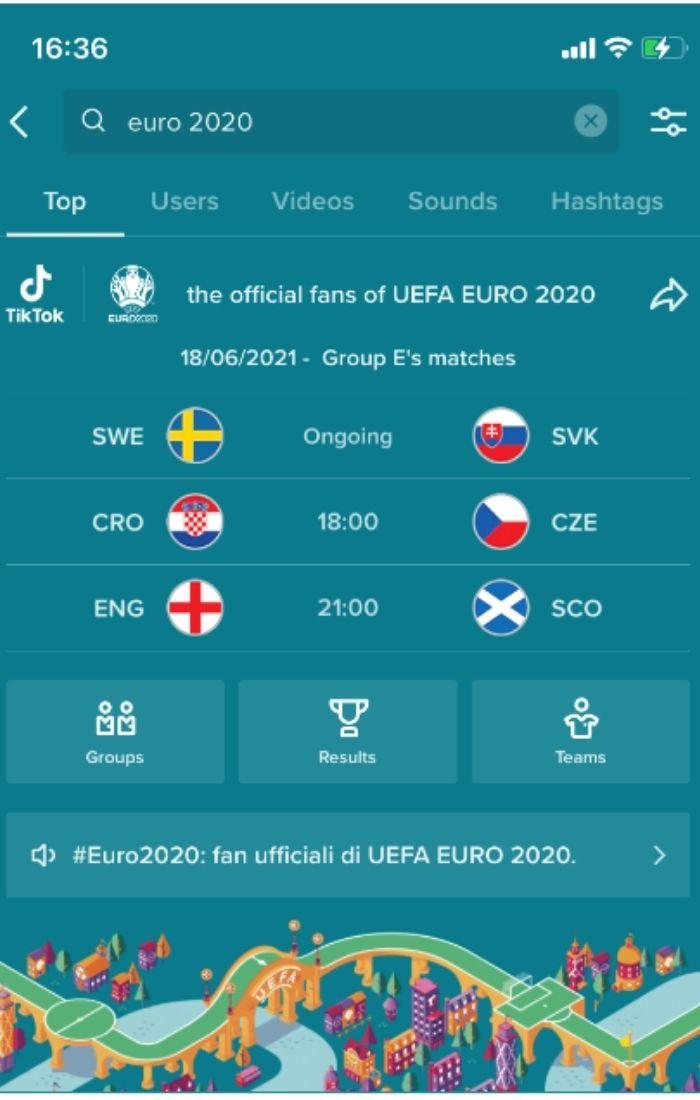 euro 2020 tiktok